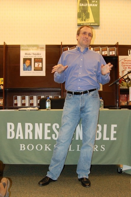 "Blake introducing ""Save the Cat! Goes to the Movies"" at Barnes & Noble in Los Angeles"