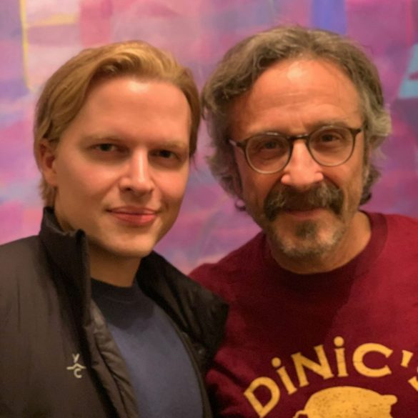 Ronan Farrow and Marc Maron