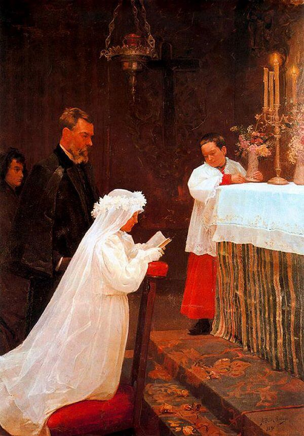 The First Communion painting by Picasso