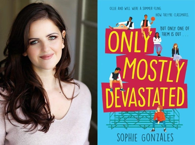 novelist Sophie Gonzales and the cover to her book Only Most Devastated