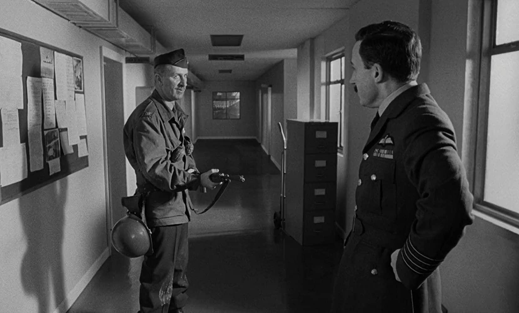 Keenan Wynn and Peter Sellers in Stanley Kubrick's Dr. Strangelove