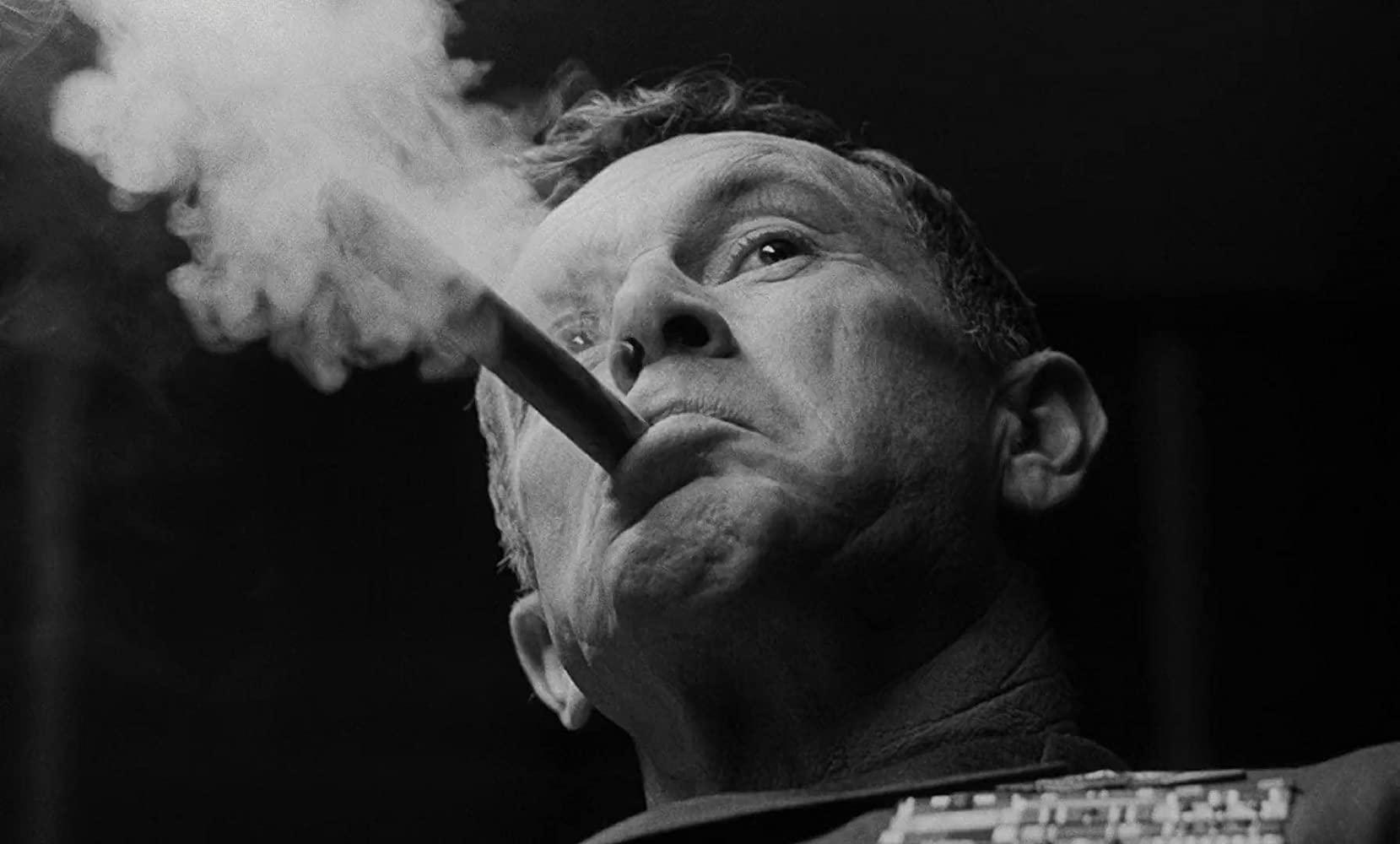 "Sterling Hayden in Stanley Kubrick's ""Dr. Strangelove"""