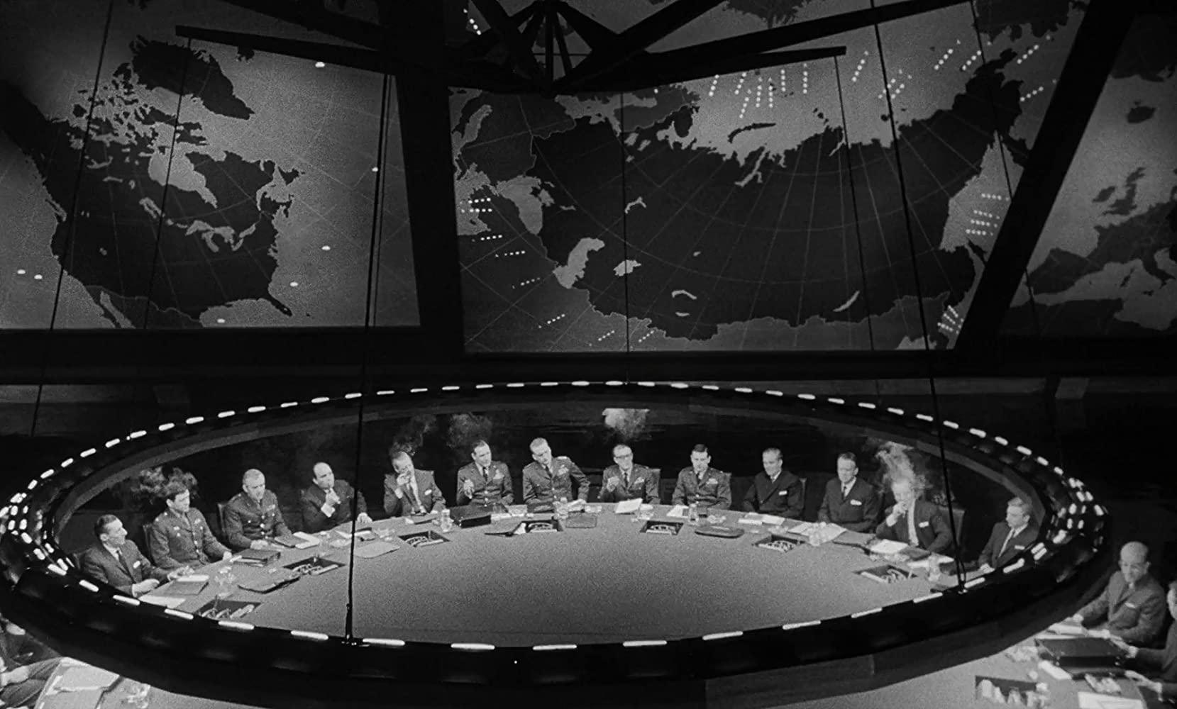 The Pentagon's War Room in Stanley Kubrick's Dr. Strangelove