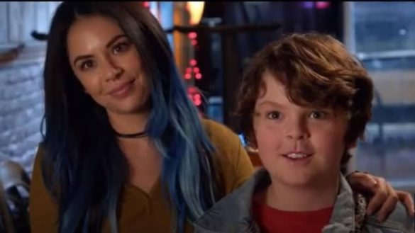Janel Parrish and and Tommy Ragen in the movie Mighty Oak
