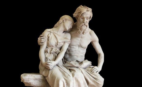 Oedipus at Colonus stastue by Jean-Baptiste Hughes
