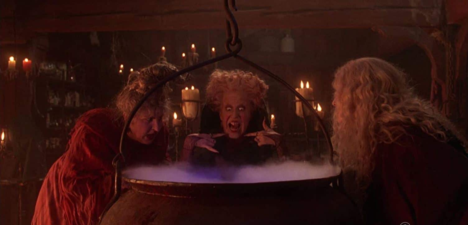 Bette Midler, Sarah Jessica Parker and Kathy Najimy from the film Hocus Pocus
