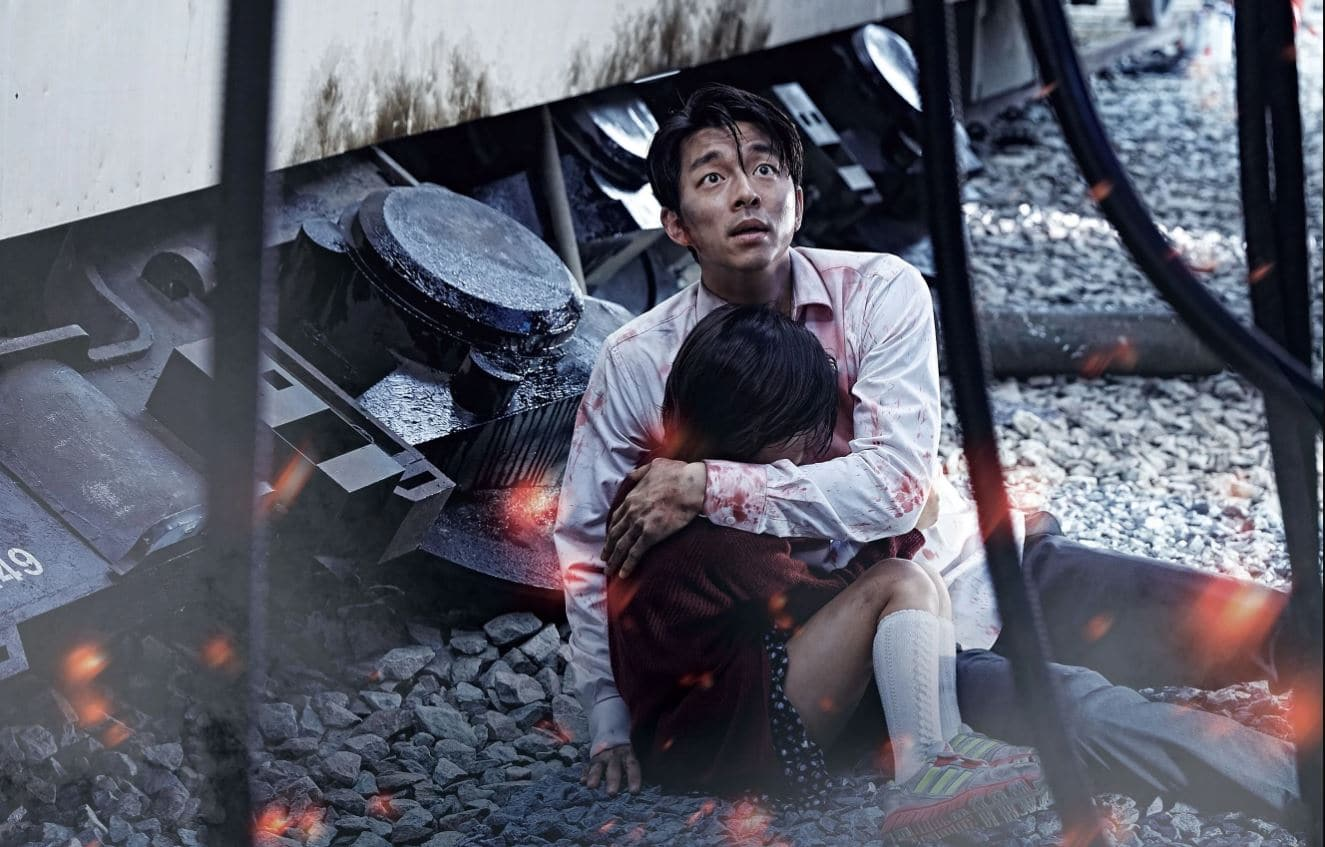 a scene from the film 'Train to Busan'