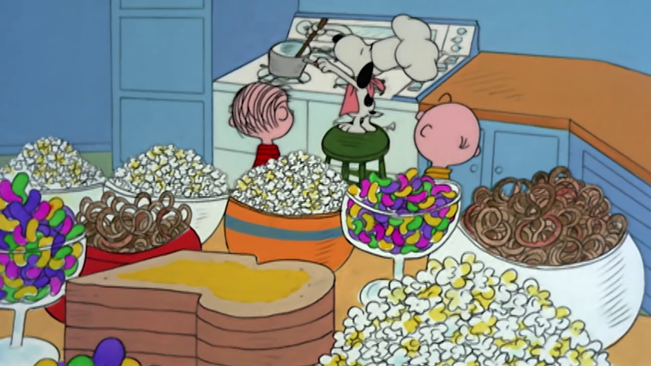 Snoopy, Linus and Charlie Brown in A Charlie Brown Thanksgiving