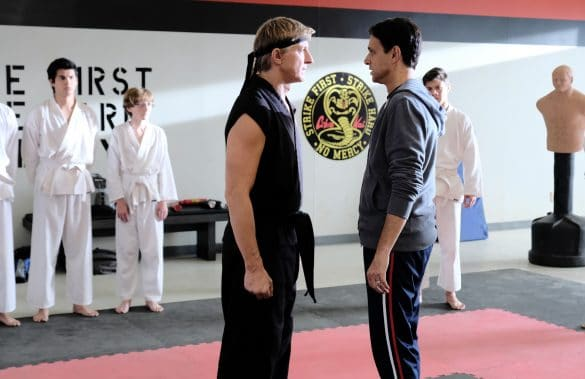 a scene from the tv series Cobra Kai