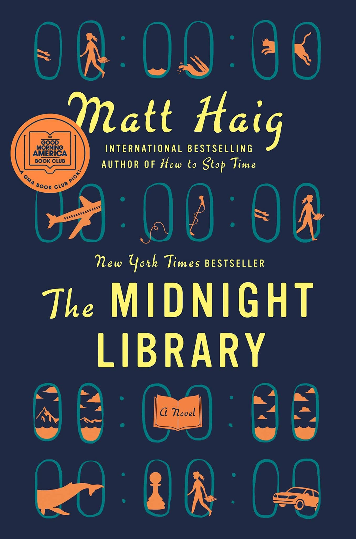front cover of the book The Midnight Library by Matt Haig