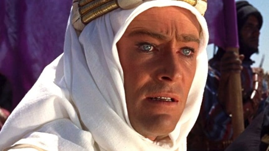 Peter O'Toole in Lawrence of Arabia