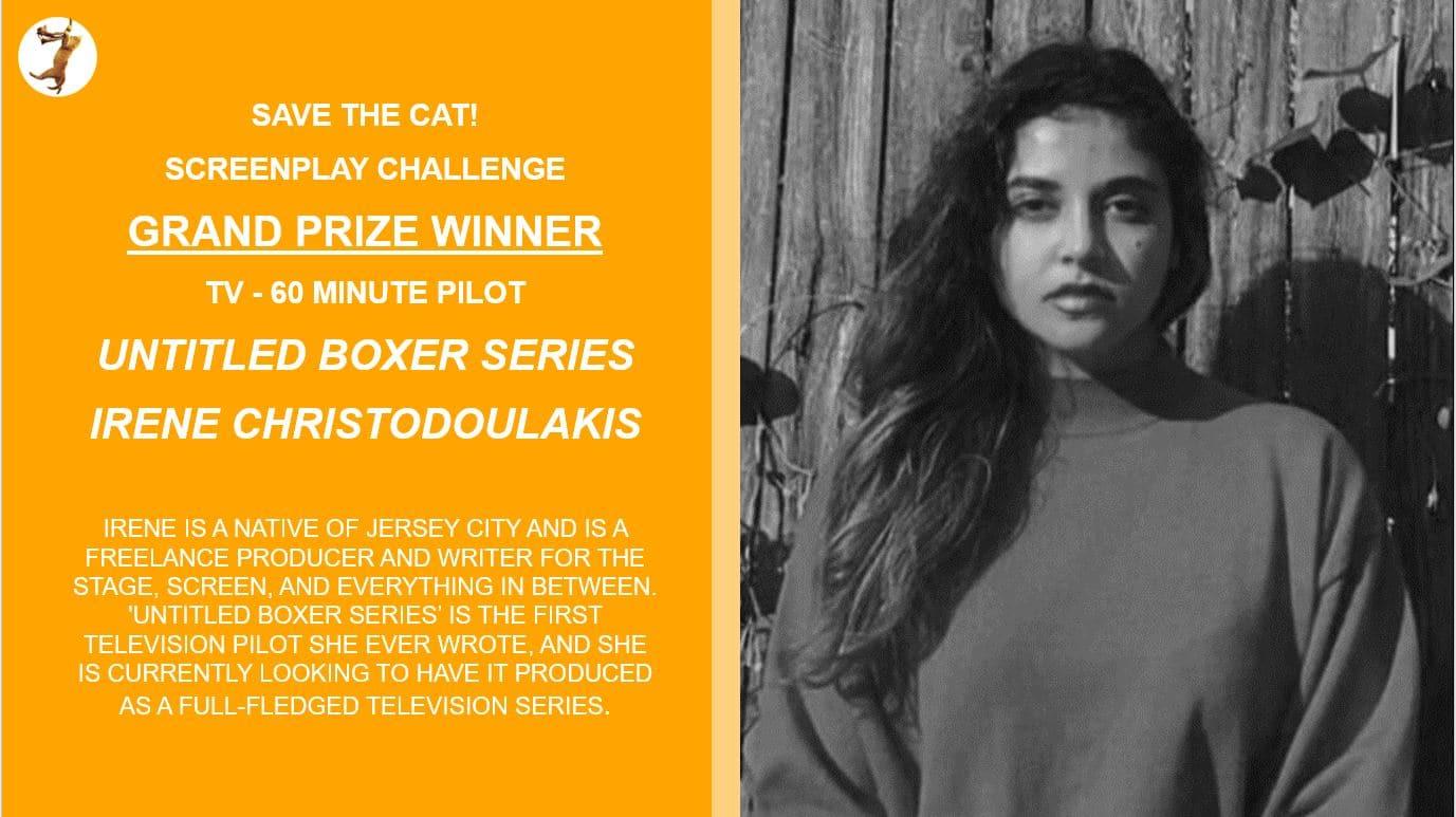 Irene Christodoulakis Screenplay Challenge Winner